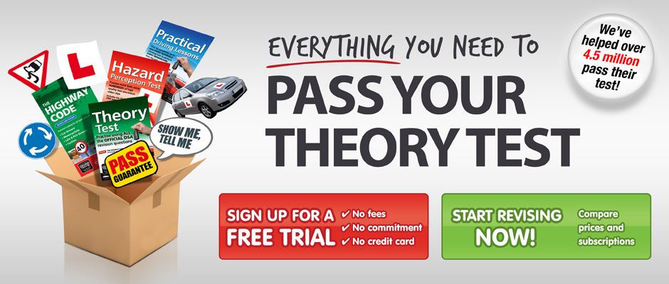 Pass your theory test. Success guaranteed or your money back*.